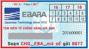 tem chống hàng giả máy bơm Ebara